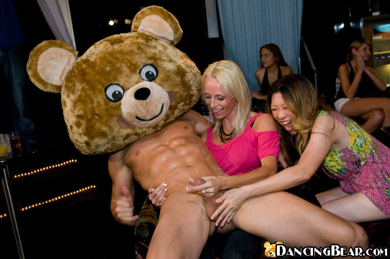 Cock party on dancing bear